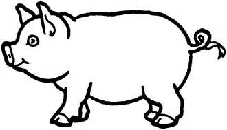 comic pig coloring pages