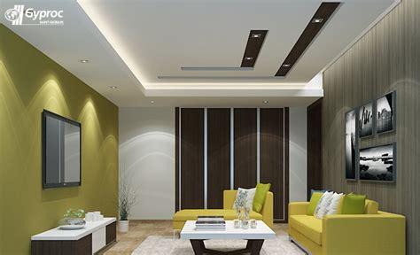 false ceiling designs  living room saint gobain