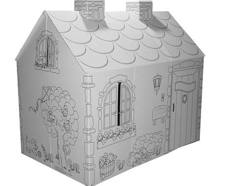 cardboard coloring house mh5536r cardboard coloring cottage cardboard house