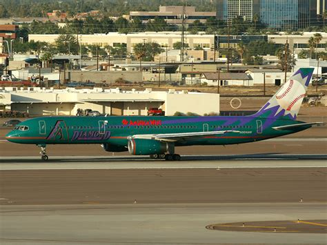 n904aw america west airlines boeing 757 200 at sky harbor intl photo id 10622