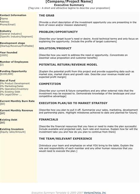 executive summary exle template executive summary template free premium