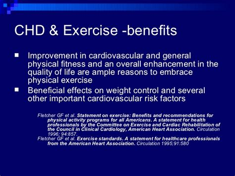 Coronary Heart Disease And Exercise What S The Evidence