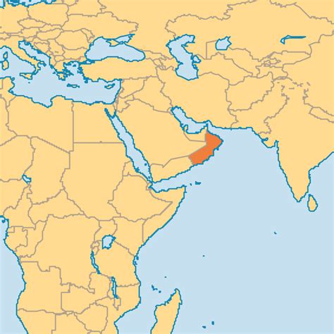 oman in world map oman operation world
