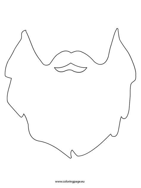 beard template printable beard printable szablony