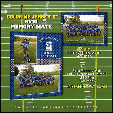 memory mate template football sports 8x10 for by sharkbyte2k