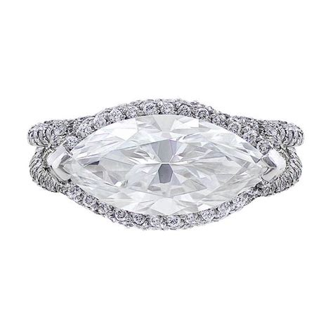 horizontal markise 3ct horizontal marquise ring cj charles jewelers