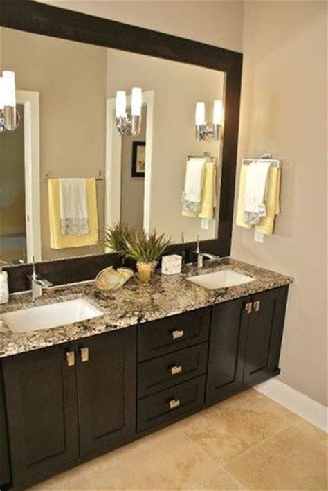 mega greige paint espresso cabinets framed mirror this for our next remodeling of our on