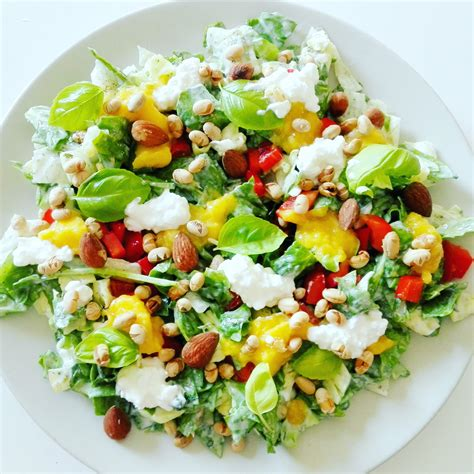 cottage recipes spinach cottage cheese salad