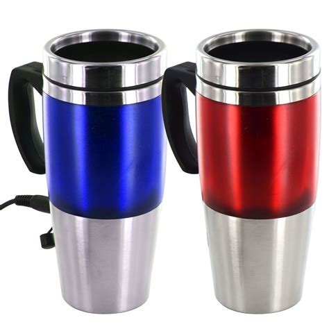 heated coffee mug auto heated travel cing mug 12v usb charger stainless