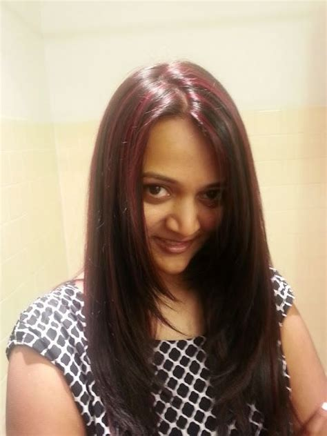 highlights for indian women indian girl with red highlights red color on black hair
