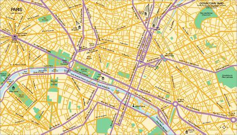 printable paris road map downtown map of paris mapsof net
