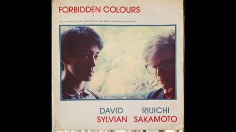ryuichi sakamato david sylvian forbidden colours youtube