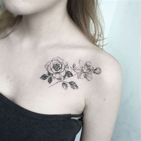rose collar bone tattoos 25 best ideas about collarbone on