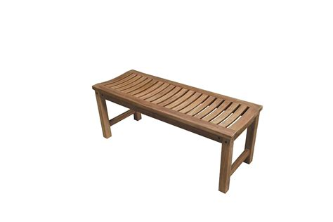 bench collection backless bench teak outdoor collection