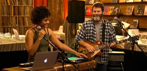 nick offerman record store hearts beat loud soundtrack debuts the first catchy single