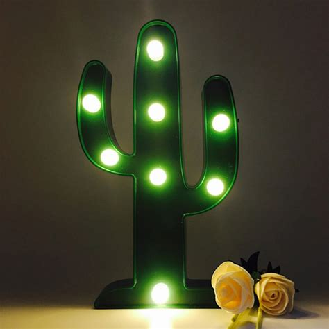 Cactus Marquee Light Nero Zero Cactus Lights