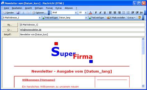 outlook newsletter erstellen mit bildern grafiken und newsletter und personalisierte serien e mails direkt in