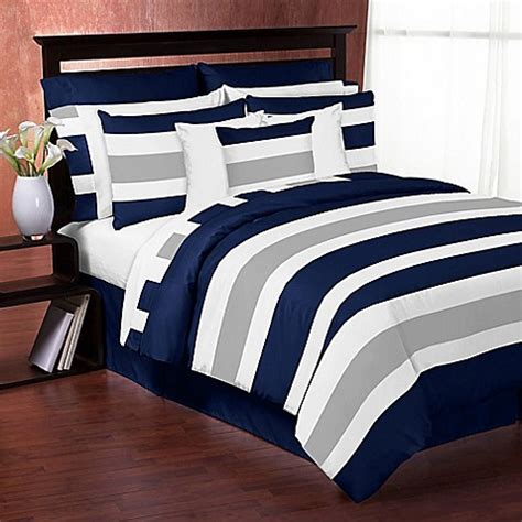 striped comforter twin buy sweet jojo designs navy and grey stripe twin comforter