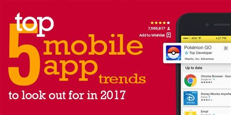 mobile app trends for 2017 top 5 mobile app trends to look out for in 2017