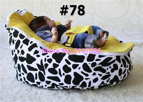 cow print baby bean bag cotton canvas cow and blue dots custom print baby bean bag