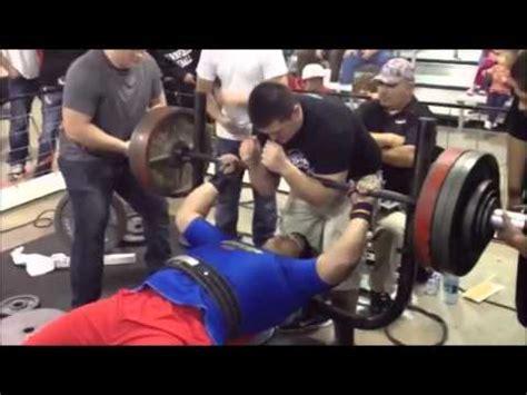 bench press 500 lbs wbu recruit byron lara bench presses 500 lbs youtube