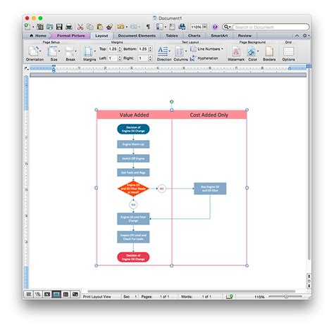 drawing flowchart in word add a cross functional flowchart to an ms word document