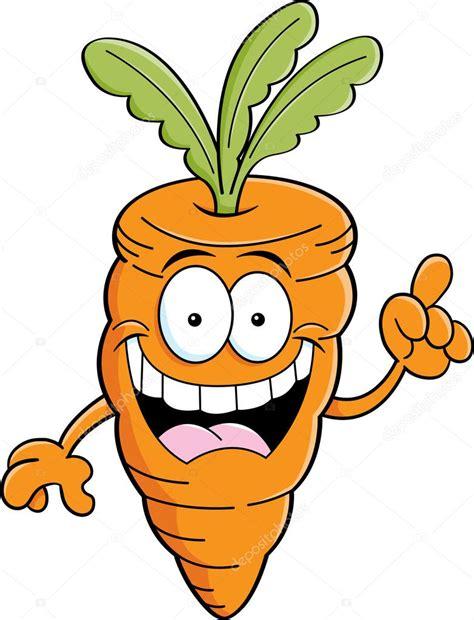 imagenes infantiles de zanahorias zanahoria de dibujos animados con una idea vector de