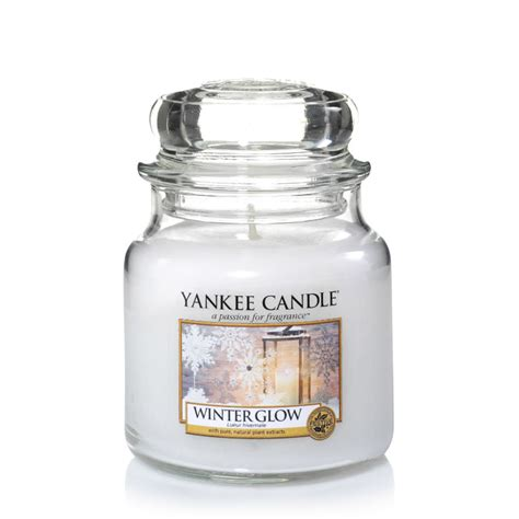 yankee candle winter glow housewarmer jar