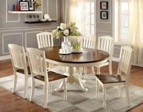 Antique White Kitchen Table And Chairs 7 Harrisburg To Oval Dining Set In Vintage White Oak Finish