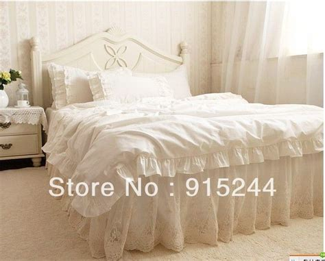 bettdecke size luxury embroidered 4pcs bedding set kingqueen size tulle