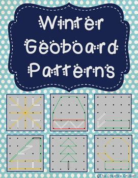 winter geoboard patterns by the creative cricket | tpt