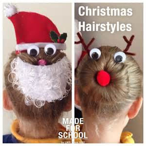 christmas hairstyles for girls made for school