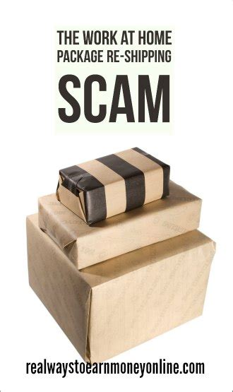 out for the work from home package shipping scam