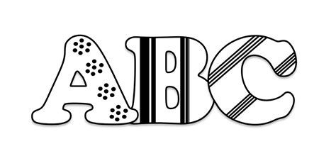 Free Abc Clipart Pictures - Clipartix Free Black And White Clip Art Letters