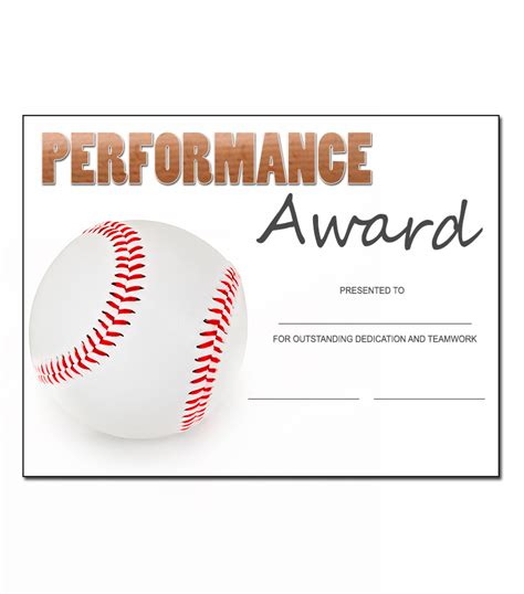 Baseball Award Template baseball award template