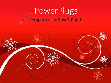 Powerpoint Template Winter Red Floral Background Powerpoint Greeting Card Template