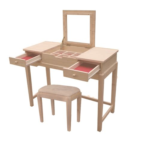 Unfinished Vanity Table Unfinished Solid Parawood Vanity Table Free Shipping Today In December 2017 Wjcf