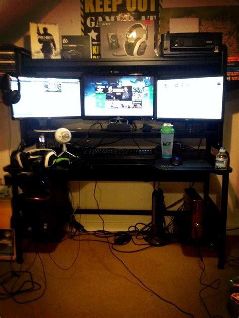 Gaming Setup Dylan S Gaming Room Pinterest Gaming Xbox Gaming Desk