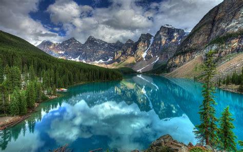lake landscape nature mountain moraine lake forest