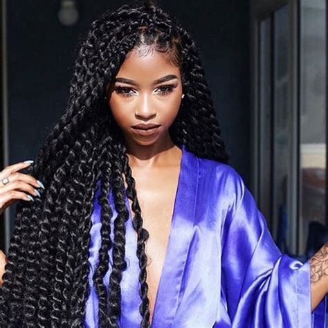 long twist braids pictures long kinky twists african american hairstyles trend for