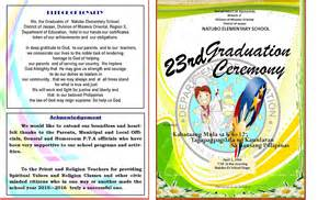 Graduation Ceremony Program Template by 2015 2016 Graduation Program New Template Deped Lp S