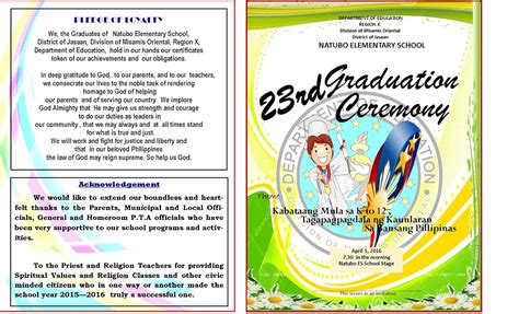 graduation program  template deped lps