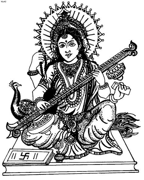 goddess saraswati coloring pages