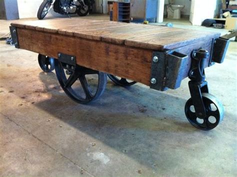 Custom Warehouse Cart Coffee Tables By Iron Hammer Designs Warehouse Cart Coffee Table