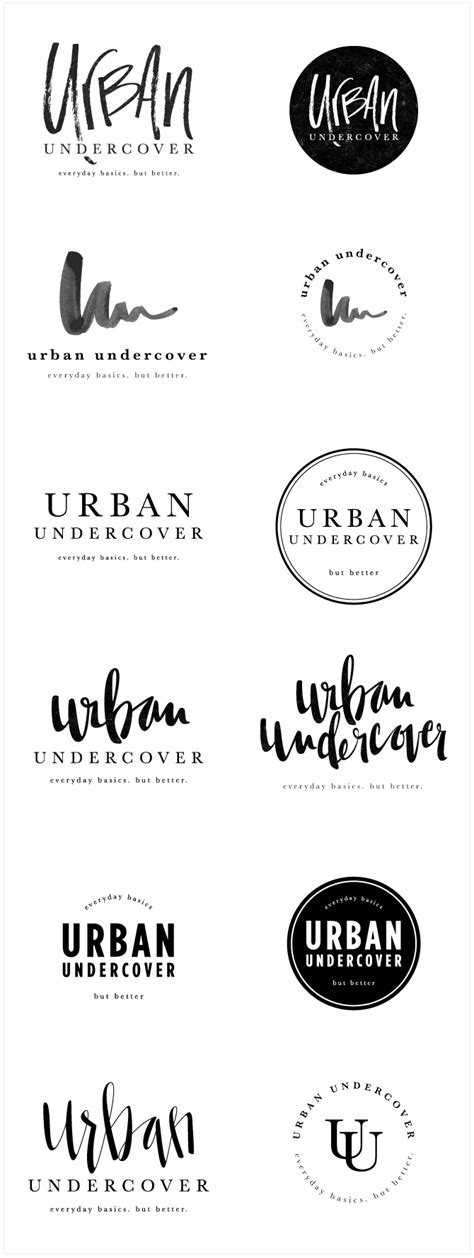 design concept names brand launch urban undercover salted ink design co