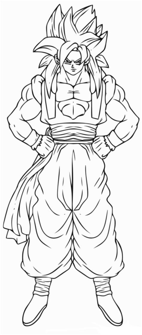 Coloriage Gogeta Dragon Ball Z à imprimer et colorier