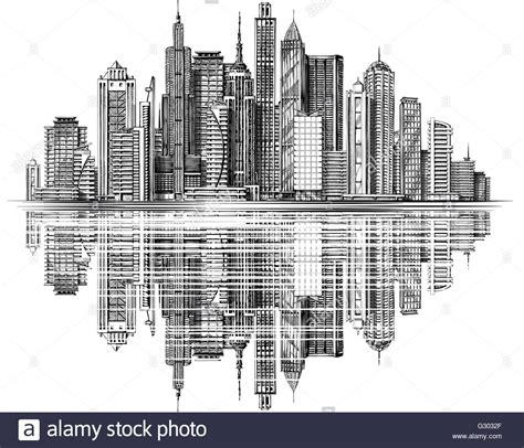 House Design Los Angeles by Modern City Skyline Silhouette Vector Architecture And