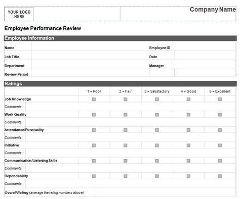 form 46 employee evaluation forms performance review exampl employee