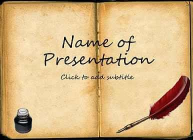 Old Book Free Template For Presentation Powerpoint Powerpoint Template Book Theme