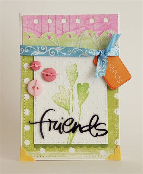 Handmade Friendship Greeting Cards - friends in frame zeroidea